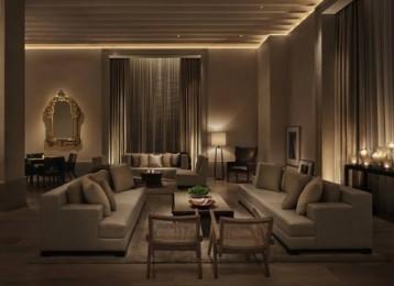 New York Edition Luxury Hotel lounge